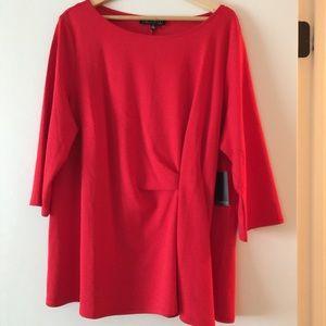 Eloquii Red Asymmetric Top